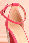 Jouvenet Pink High Heeled Sandals | Sandales | Boutique 1861 front strap close-up