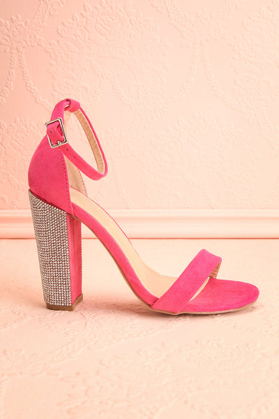 Jouvenet Pink High Heeled Sandals | Sandales | Boutique 1861 side view