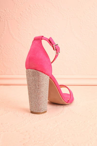 Jouvenet Pink High Heeled Sandals | Sandales | Boutique 1861 back view