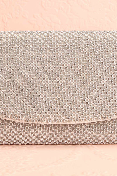 Kahaluu Silver Crystal Clutch | Sac à Main | Boutique 1861 front close-up
