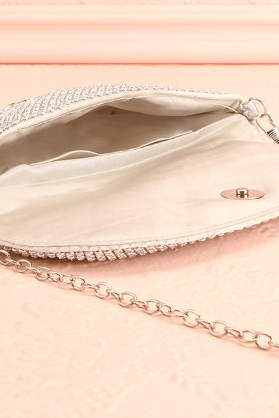 Kahaluu Silver Crystal Clutch | Sac à Main | Boutique 1861 inside close-up