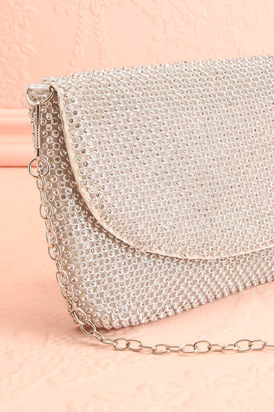 Kahaluu Silver Crystal Clutch | Sac à Main | Boutique 1861 side close-up