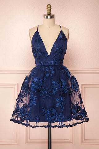 Kalena Navy Blue Party Dress | Robe de Fête | Boutique 1861