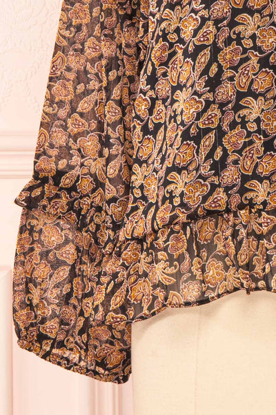 Kalvdans Paisley 3/4 Sleeve Button-Up Blouse | Boutique 1861 bottom