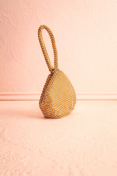 Kapolei Gold Crystal Wristlet | Sac à Main | Boutique 1861 side view
