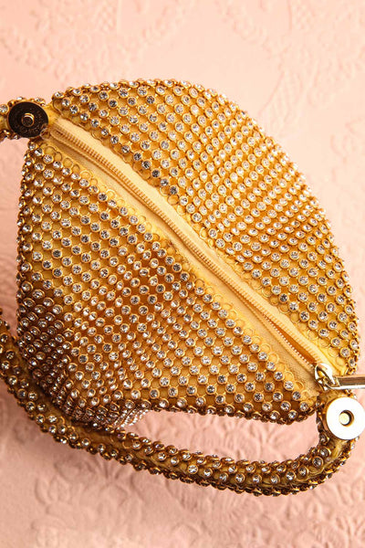 Kapolei Gold Crystal Wristlet | Sac à Main | Boutique 1861 inside view