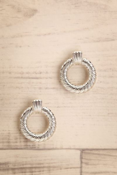 Keiss Argent Silver Twisted Hoop Earrings | La Petite Garçonne