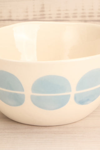Keramoto White & Blue Patterned Bowl close-up | La Petite Garçonne Chpt. 2