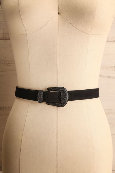 Khavari Black Belt with Western-Inspired Buckle | La Petite Garçonne 1