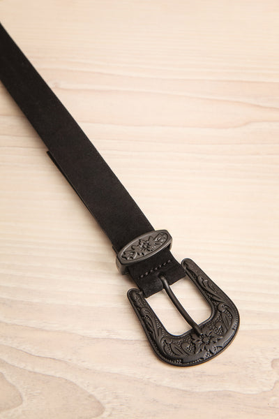 Khavari Black Belt with Western-Inspired Buckle | La Petite Garçonne 4