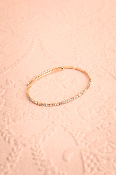 Kiana Gold Arm Bracelet w/ Crystals | Boutique 1861