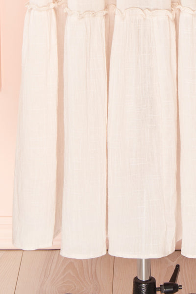 Kieu Beige Flowy Layered Maxi Dress | Boutique 1861 bottom