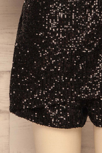 Kilme Noir Black Romper | Combishort | La Petite Garçonne bottom close-up