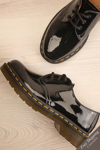 Kingswood Patent Black Dr. Martens Shoes flat lay | La Petite Garçonne Chpt. 2