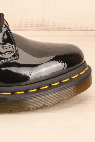 Kingswood Patent Black Dr. Martens Shoes side front view | La Petite Garçonne Chpt. 2