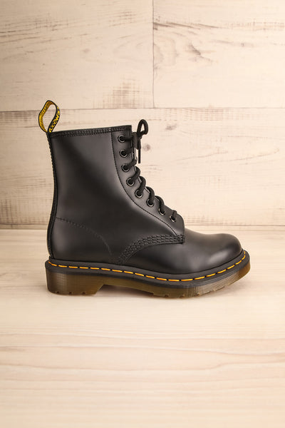 Kirkbride Leather Black Dr. Martens Boots side view | La Petite Garçonne