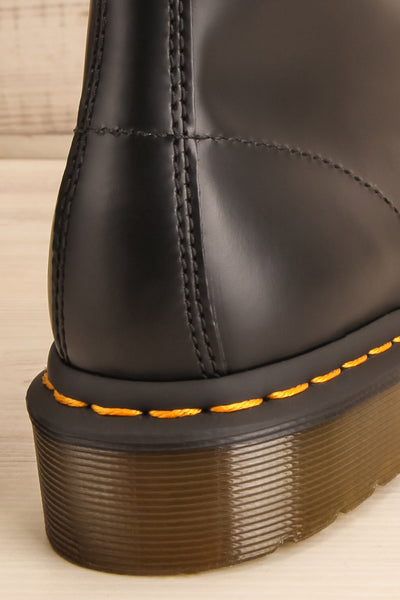 Kirkbride Leather Black Dr. Martens Boots back close-up | La Petite Garçonne