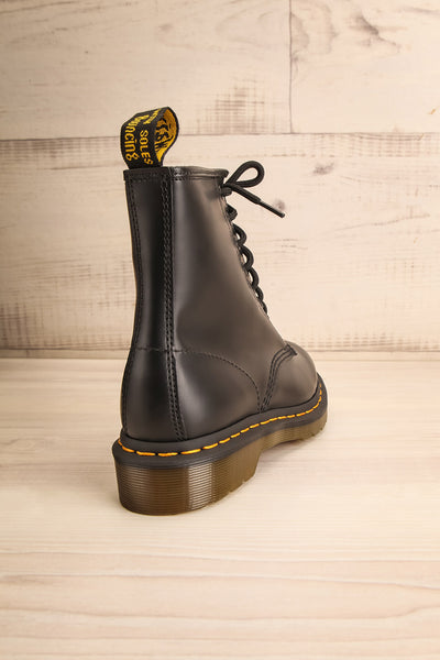 Kirkbride Leather Black Dr. Martens Boots back view | La Petite Garçonne