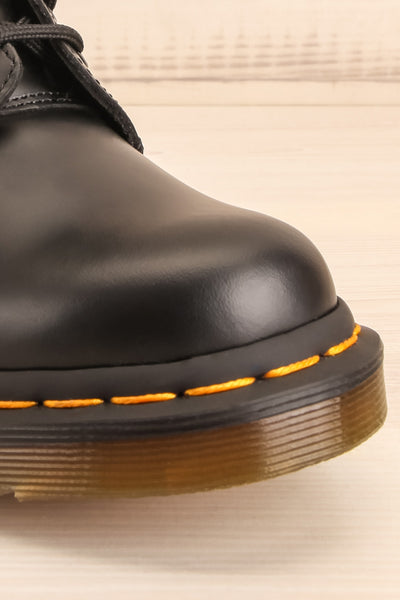 Kirkbride Leather Black Dr. Martens Boots front close-up | La Petite Garçonne