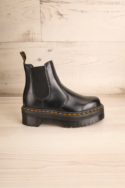2976 Polished Smooth Platform Chelsea Boots