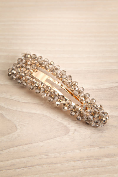 Kogalym Golden Barrette with Grey Beads | Boutique 1861