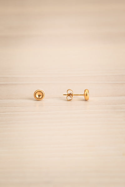 Koppelo Gold Filled Circular Stud Earrings | La Petite Garçonne