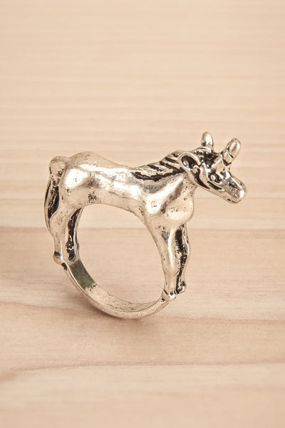 Kounia - Silver unicorn-shaped ring 2