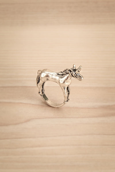 Kounia - Silver unicorn-shaped ring 1