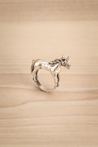 Kounia - Silver unicorn-shaped ring