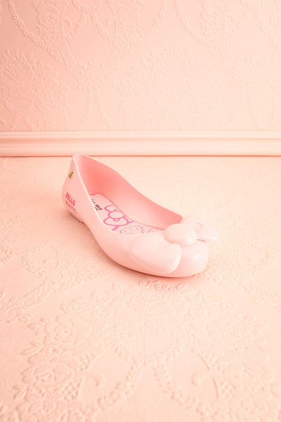 Kurume Pink Hello Kitty Ballet Flats with Bow | Boutique 1861 3