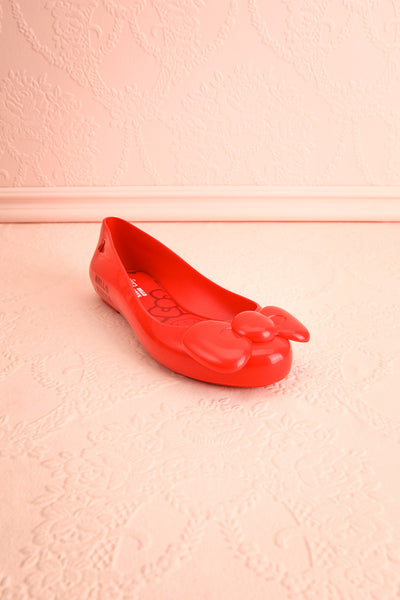 Kurume Red Hello Kitty Ballet Flats with Bow | Boutique 1861 3