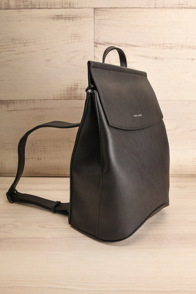 Kyym Black Pixie Mood Faux-Leather Backpack side view | La Petite Garçonne