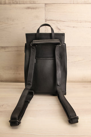 Kyym Black Pixie Mood Faux-Leather Backpack back view | La Petite Garçonne