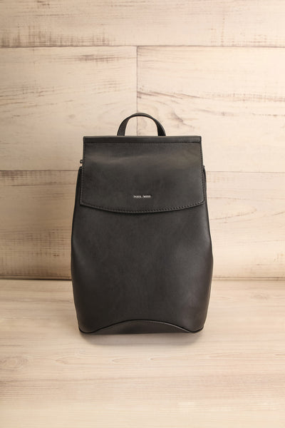 Kyym Black Pixie Mood Faux-Leather Backpack front view | La Petite Garçonne