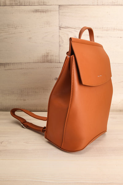 Kyym Cognac Pixie Mood Faux-Leather Backpack side view | La Petite Garçonne