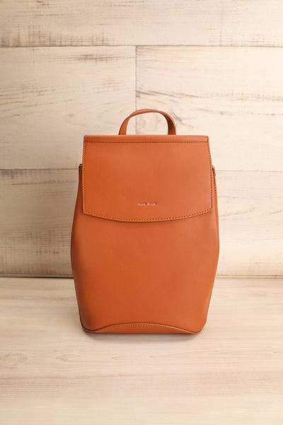 Kyym Cognac Pixie Mood Faux-Leather Backpack front view | La Petite Garçonne