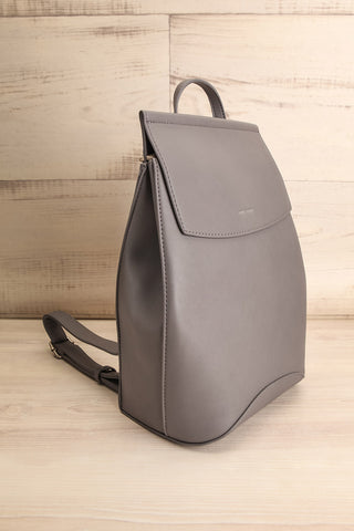 Kyym Grey Pixie Mood Faux-Leather Backpack side view | La Petite Garçonne