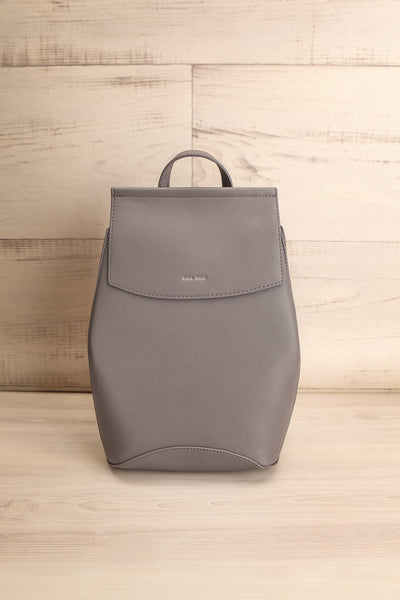 Kyym Grey Pixie Mood Faux-Leather Backpack front view | La Petite Garçonne