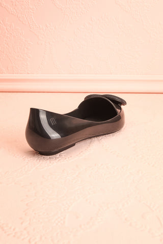 Lacaze Noir Black Slip-On Loafers with Heart back view | Boutique 1861