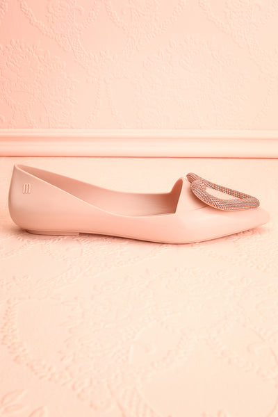 Lacaze Rose Blush Slip-On Loafers with Heart side view | Boutique 1861