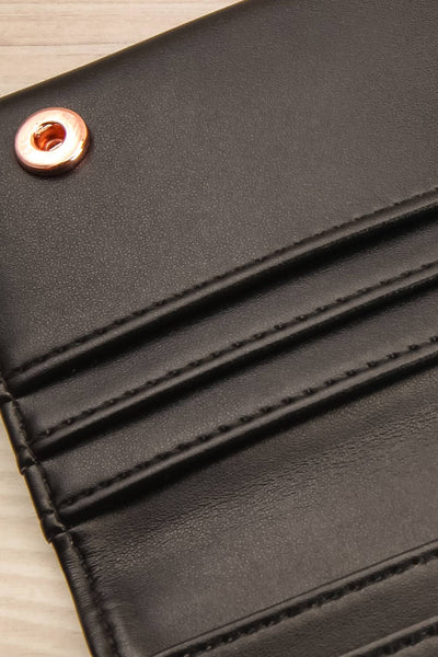 Laf Black Vegan Leather Wallet | La petite garçonne inside close-up