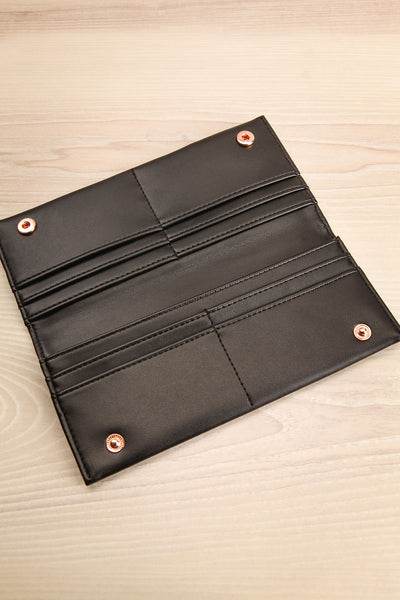 Laf Black Vegan Leather Wallet | La petite garçonne inside view