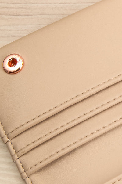 Laf Taupe Vegan Leather Wallet | La petite garçonne inside close-up