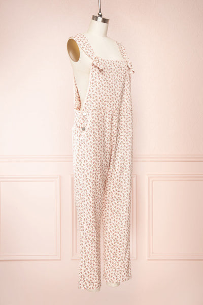 Lagoena Pink Patterned Straight Leg Overalls | Boutique 1861 side view
