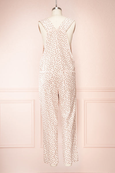 Lagoena Pink Patterned Straight Leg Overalls | Boutique 1861 back view
