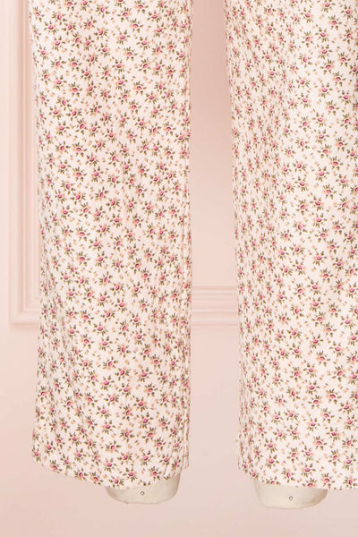 Lagoena Pink Patterned Straight Leg Overalls | Boutique 1861 legs