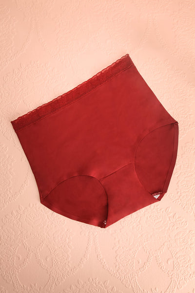 Laka Burgundy High Waisted Cheeky Panty | Boutique 1861