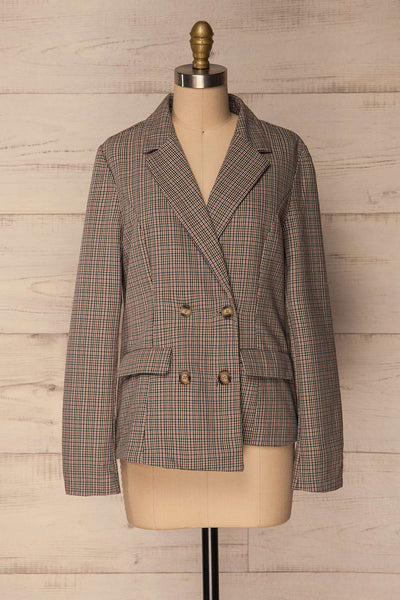Landéan Colourful Plaid Double Breasted Jacket | La Petite Garçonne 1
