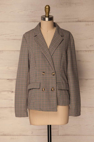 Landéan Colourful Plaid Double Breasted Jacket | La Petite Garçonne