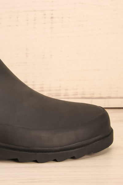 Laney - Black Matt & Nat flat rain boots 6